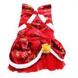 PETPETROL 2018 Lace Chinese Cheongsam Style Costume Floral Ribbon Sequins Tutu Skirt Dress