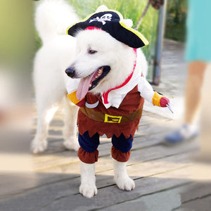 PETPETROL 2018 Pet Funny Cute Halloween Pirate Cosplay Costume Pet Clothing