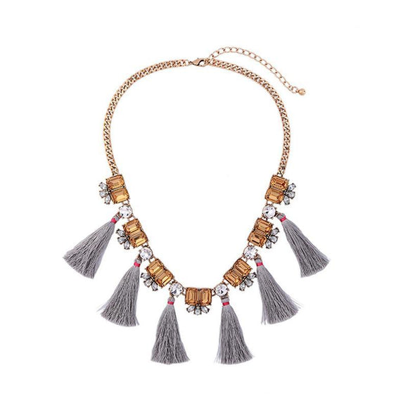 ATHENA 2018 Collares Maxi Necklace Collier Fashion Tassel Necklaces Charming Graceful Crystal Flower Bohemian Exaggeration Jewelry Pendant