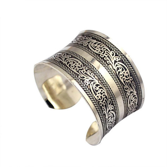 ATHENA 2018 brand fashion Vintage Curved ethnic Cuff Bracelet punk boho Statement Bangles Letter bracelet bangle women Jewelry