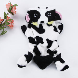 PETPETROL 2018 Cow Warm Coat Costume Hoody Apparel Pullover Winter Pet Clothing