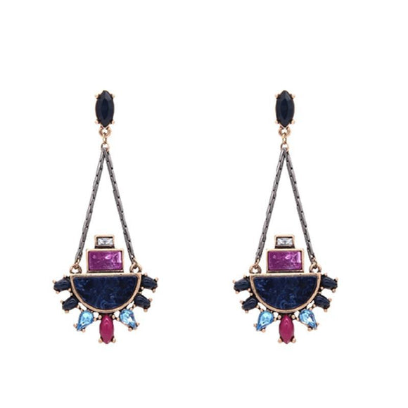 ATHENA 2018 Top Fashion Vintage Brinco Earings Brand Exquisite Geometric Gem Earrings For Women Bijoux Boucle D'oreille