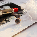 ATHENA 2018 Geometric Pattern Artificial Stone Mosaic Big Ring Zinc Alloy Accessories