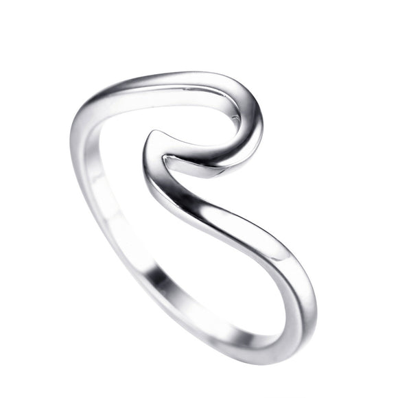 Sattaj 925 Sterling Silver Original Design Wave Rings