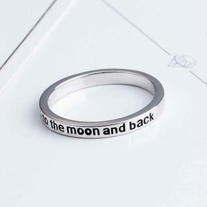 Sattaj 925 Sterling Silver I Love You To The Moon and Back Rings