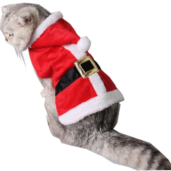 Petpetrol  Adjustable Christmas Red Santa Claus Cat & Dog Costume