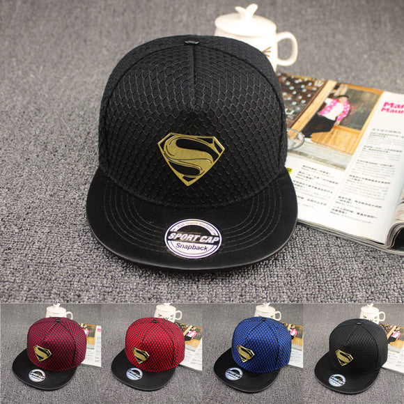 2016 New Fashion Summer Brand Superman Baseball Cap Hat For Men WomenTeens Casual Bone Hip Hop Snapback Caps Sun Hats