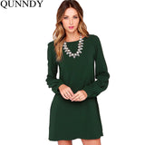 2016 Autumn Dress Plus Size Women Dresses Work Wear Elegant Casual Party Bodycon Long Sleeve Mini Loose Dress Vestido de festa