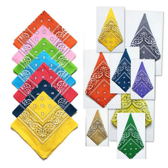 Cotton Bandana Scarf Magic Square Scarf Women Men Fashion Bicycle Motorcycle Male Female Bandanas Headwear Scarves Hijab