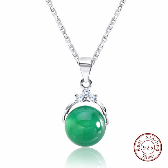 925 sterling silver Two color Danube pendant & necklace