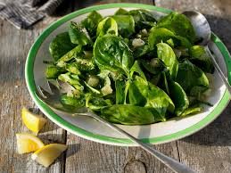 Spinach Salad with Orange-Chia Dressing - by Julie Morris