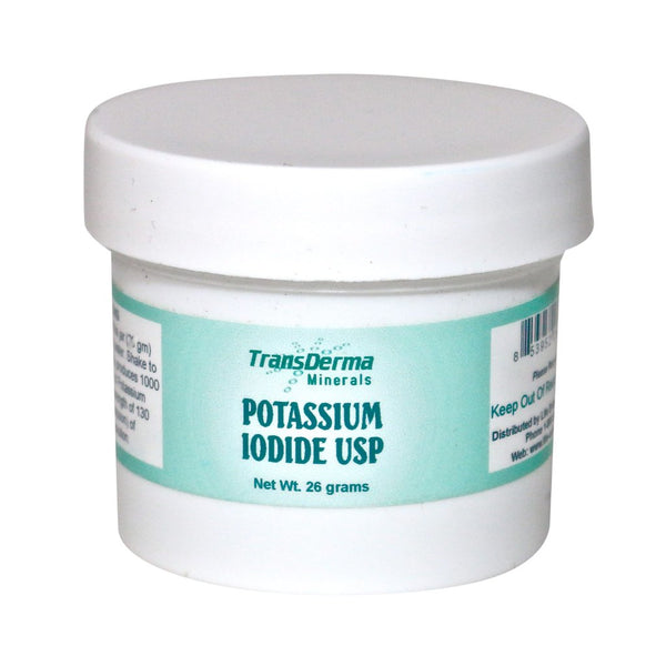Potassium Iodide USP Thyroid Health by TransDerma Minerals - 0.92 oz. / 26 g.