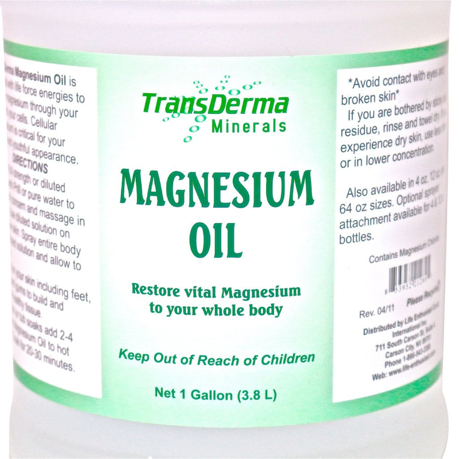 Magnesium Oil (4 oz., 12 oz. or 1 gallon) by TransDerma Minerals