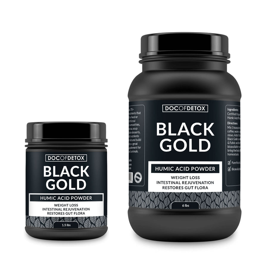 Black Gold Humic Acid (Weight Loss, Intestinal Rejuvenation, Restores Gut Flora) by Doc of Detox