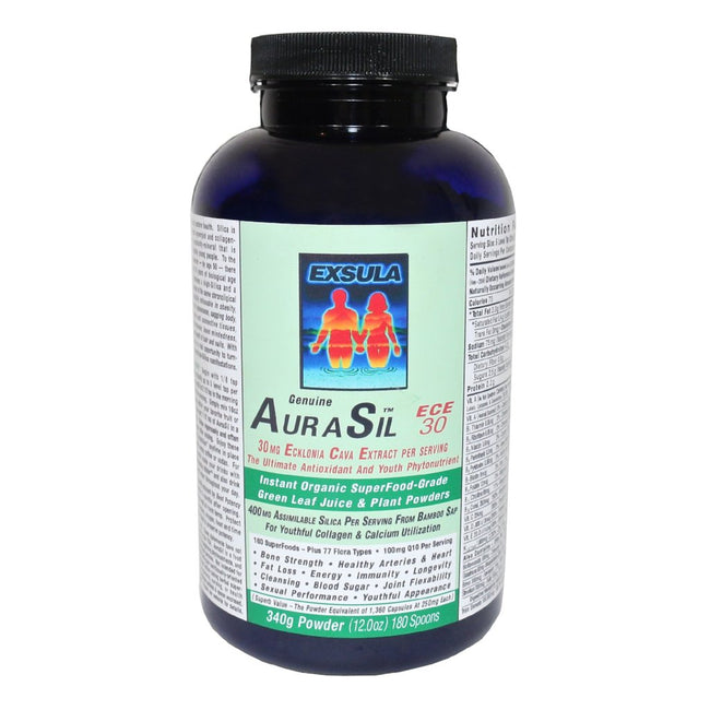 AuraSil 30 and AuraSil 300 Detox Superfood Powder by Exsula Superfoods -  340g // 230g