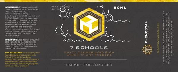 7 Schools: Phyto Cannabinoid Rich Whole Plant Hemp Extract<br>Elemental Wizdom