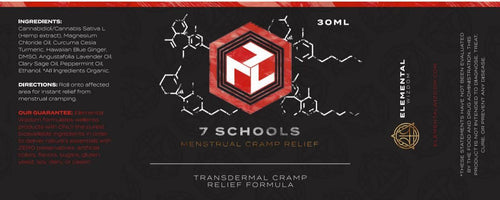 7 Schools MCR Transdermal Menstrual Cramp Relief - 1.01 oz./30 ml.