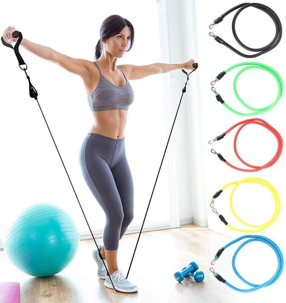 Mind Body Future Tube Resistance Bands | Home Fitness Equipment - Tempo Tea Bar