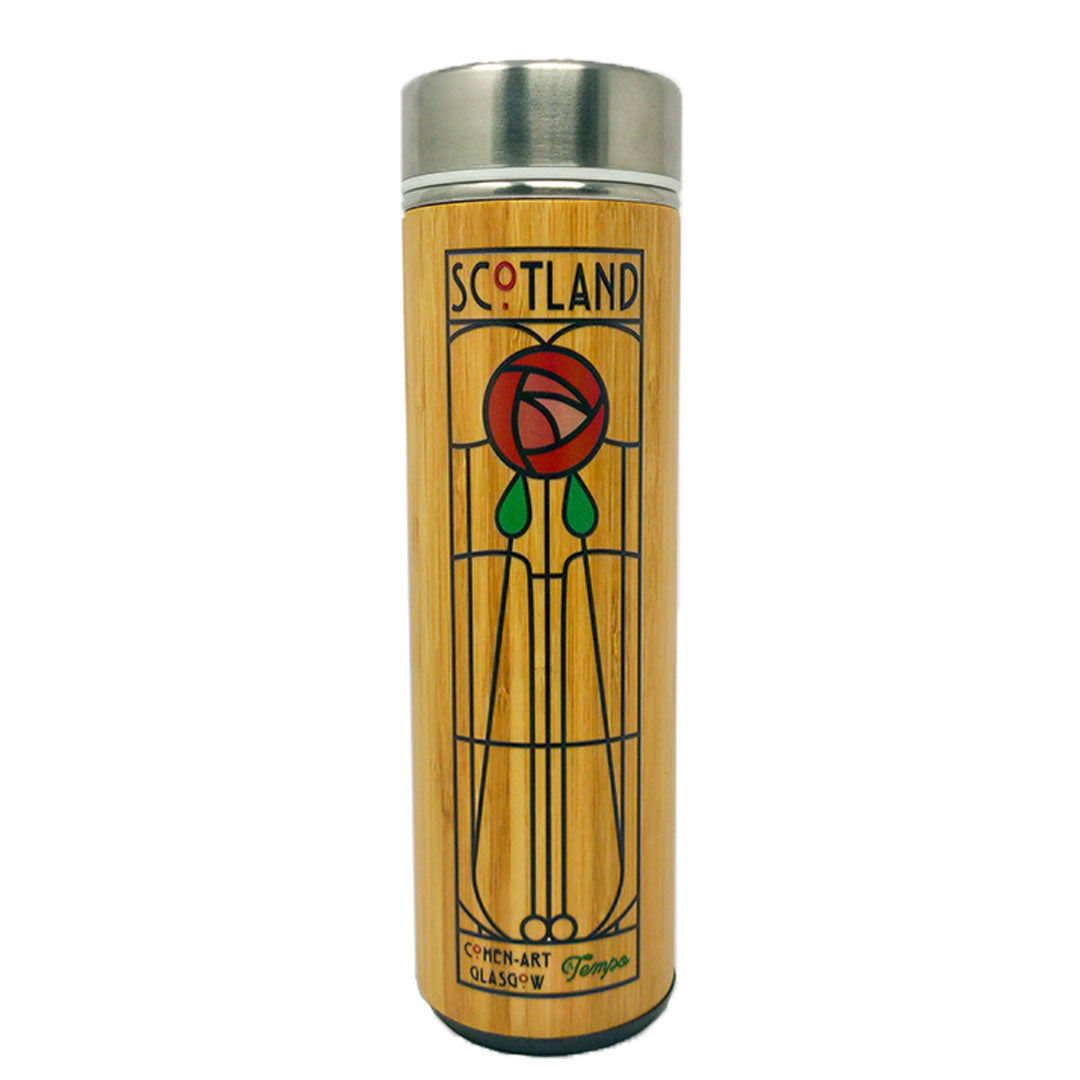 Scotland Rose Bamboo Infuser Bottle - Tempo Tea Bar