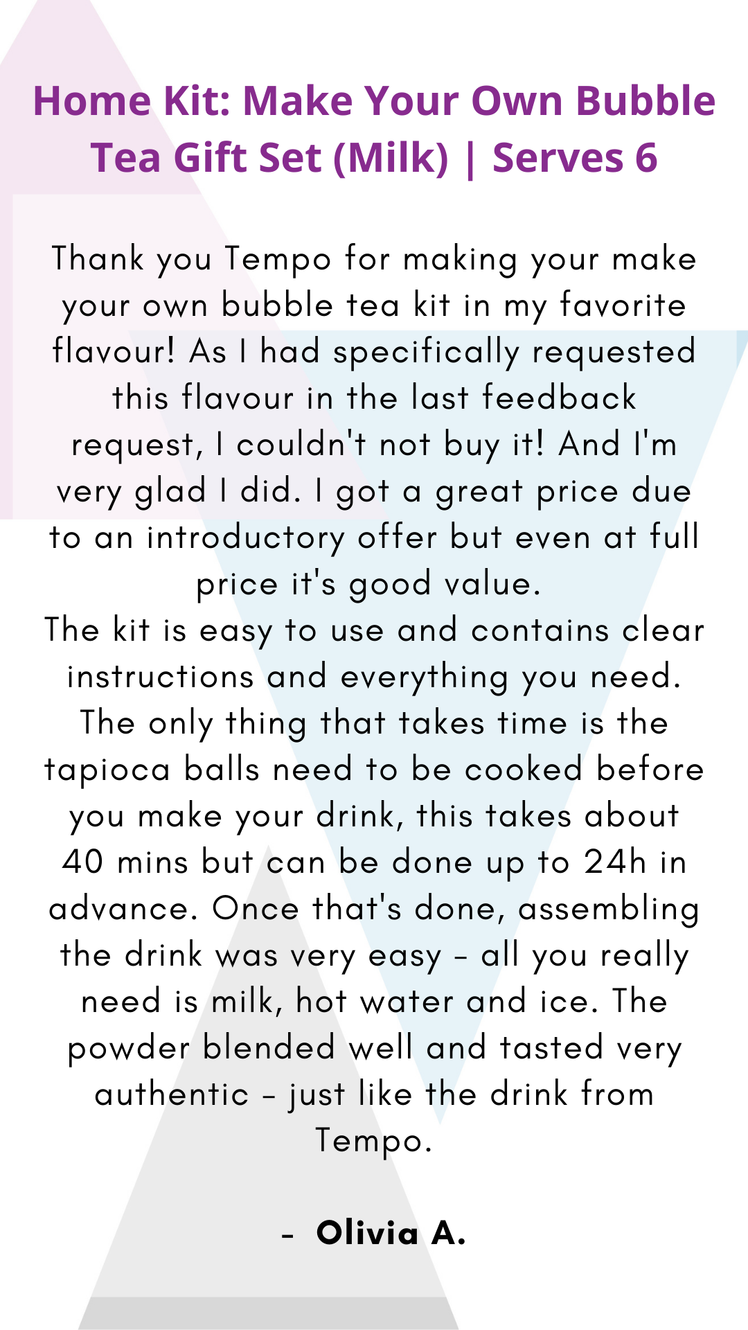 Taro | Milk Bubble Tea Home Kit - Tempo Tea Bar