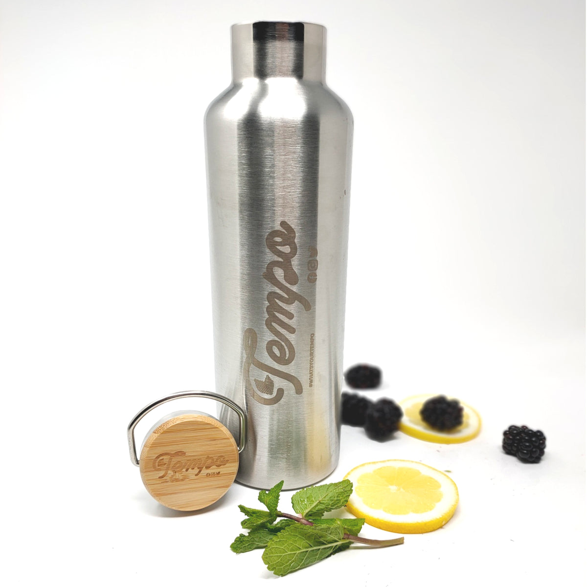 Stainless Steel Double Walled Tempo Water Bottle - Tempo Tea Bar