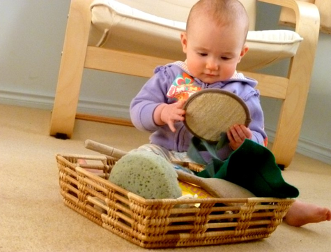 baby sensory play touch