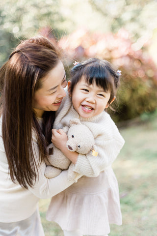 the wee bean founder amy tang ma with her muse and daughter sophie bean