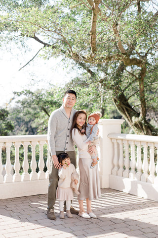 the wee bean founders amy tang and adrian ma and their family and kids