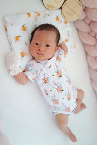 baby zoey in boba onesie the wee bean