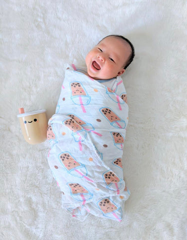 baby markus in boba organic swaddle the wee bean
