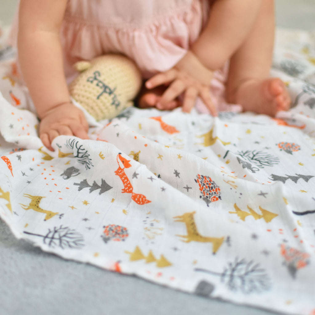 wee bean muslin swaddle bamboo cotton organic