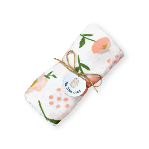 Bamboo Organic Cotton GOTS certified Muslin Swaddles Cloths Cute Flowers The Wee Bean