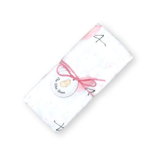 Flamingo 70% Bamboo 30% Organic Cotton Blend Swaddles Muslin Cloths Blankets - The Wee Bean