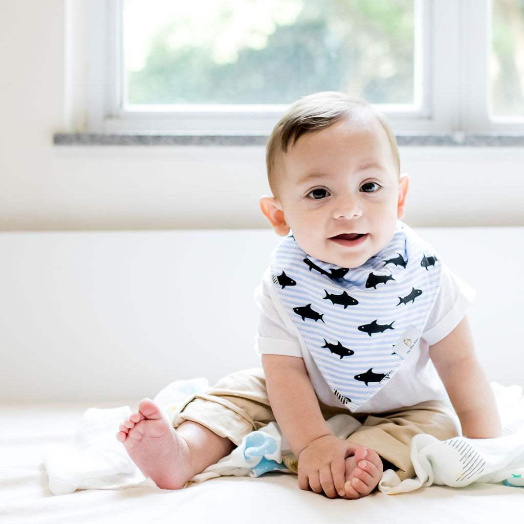 Organic Cotton Bandana Bibs 4pcs Set - Under the Sea Collection