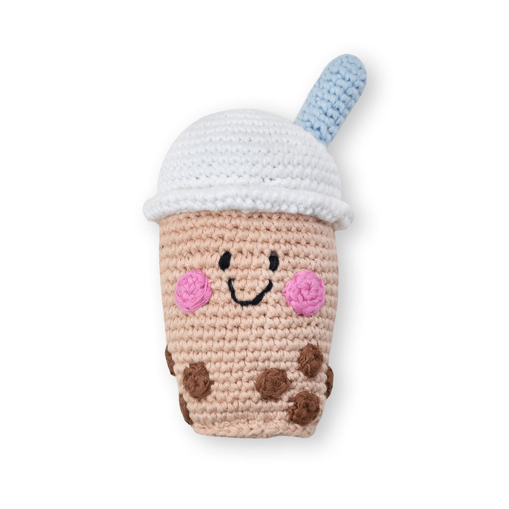 the wee bean pebble child hathay bunano fair trade handmade knit baby rattle dolls boba bubble milk dollstea