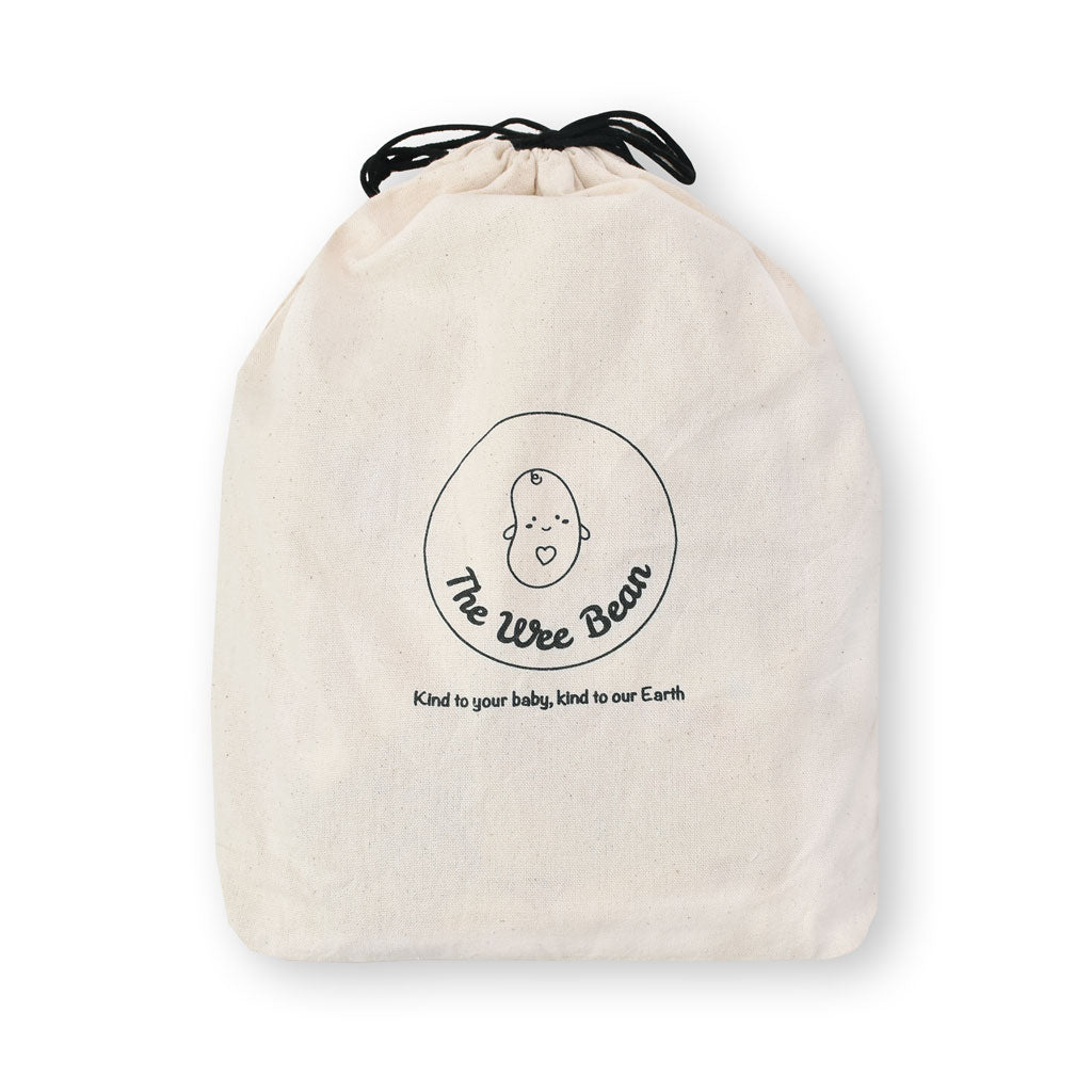 the wee bean Add Eco-Friendly Cotton Drawstring Bag Gift Packaging