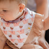 baby wearing the wee bean  organic cotton bandana bibs mr softee ice cream