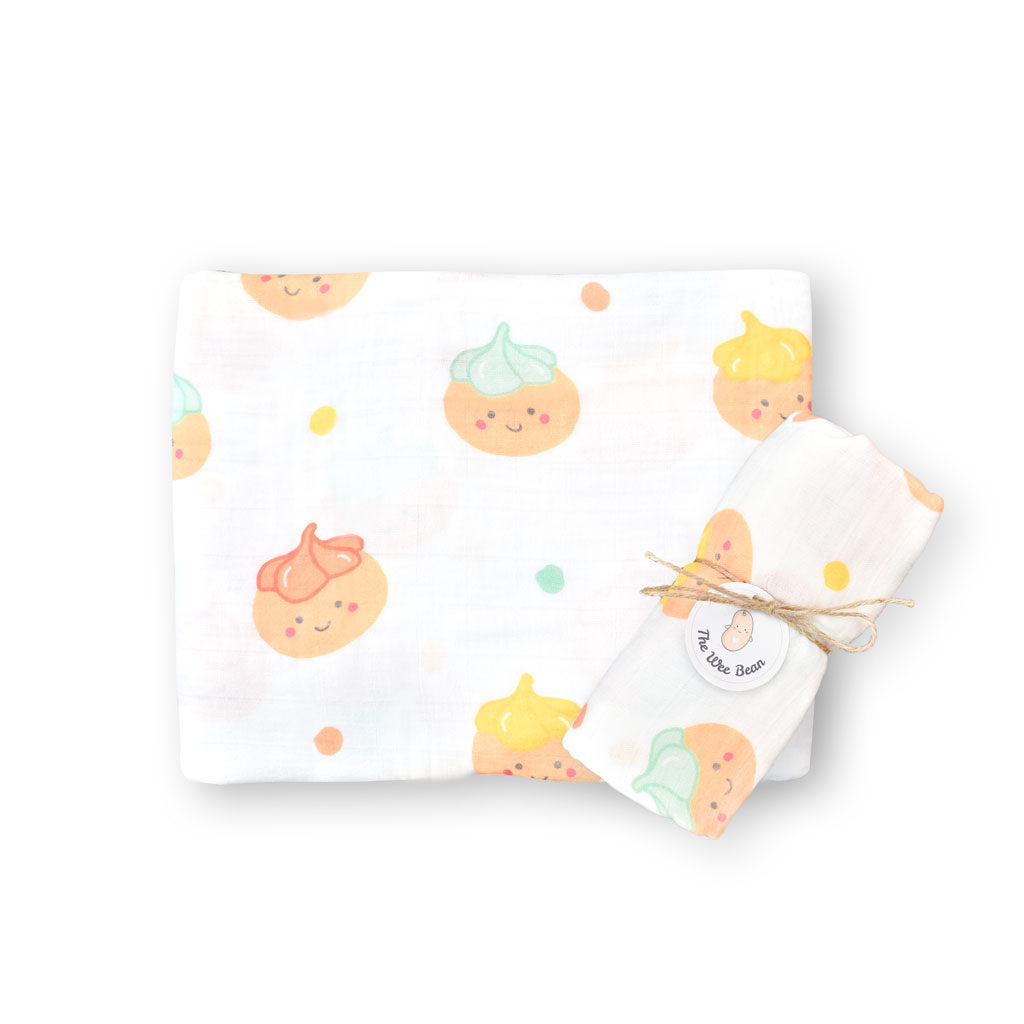 the wee bean iced gem biscuit belly button cookies organic cotton bamboo swaddle