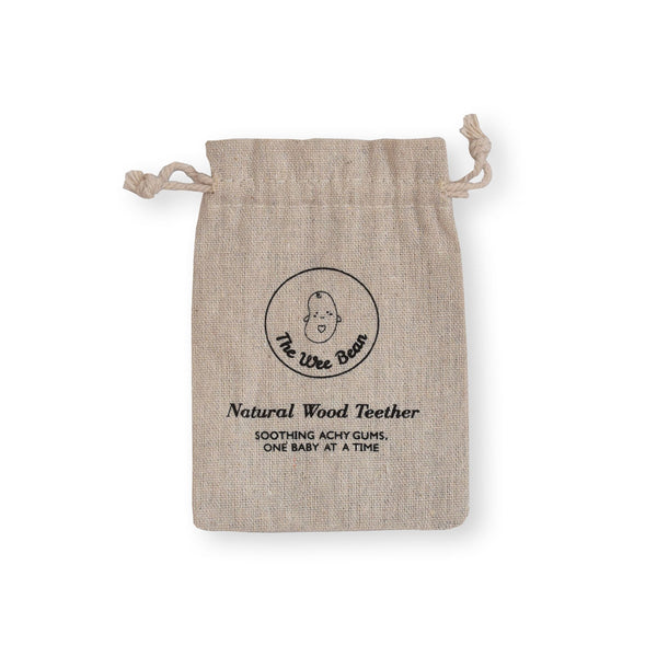 hemp reusable eco-friendly bag for baby wood teethers toys