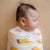 the wee bean super soft and extra large size organic cotton and bamboo swaddle in vita lemon tea and egg tart