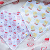 the wee bean organic cotton baby bandana bib yogurt drink yakult vita lemon tea bib set
