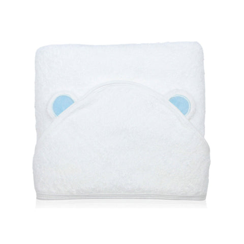 100% bamboo organic baby toddler hooded bath towel the wee bean hypoallergenic blue ears
