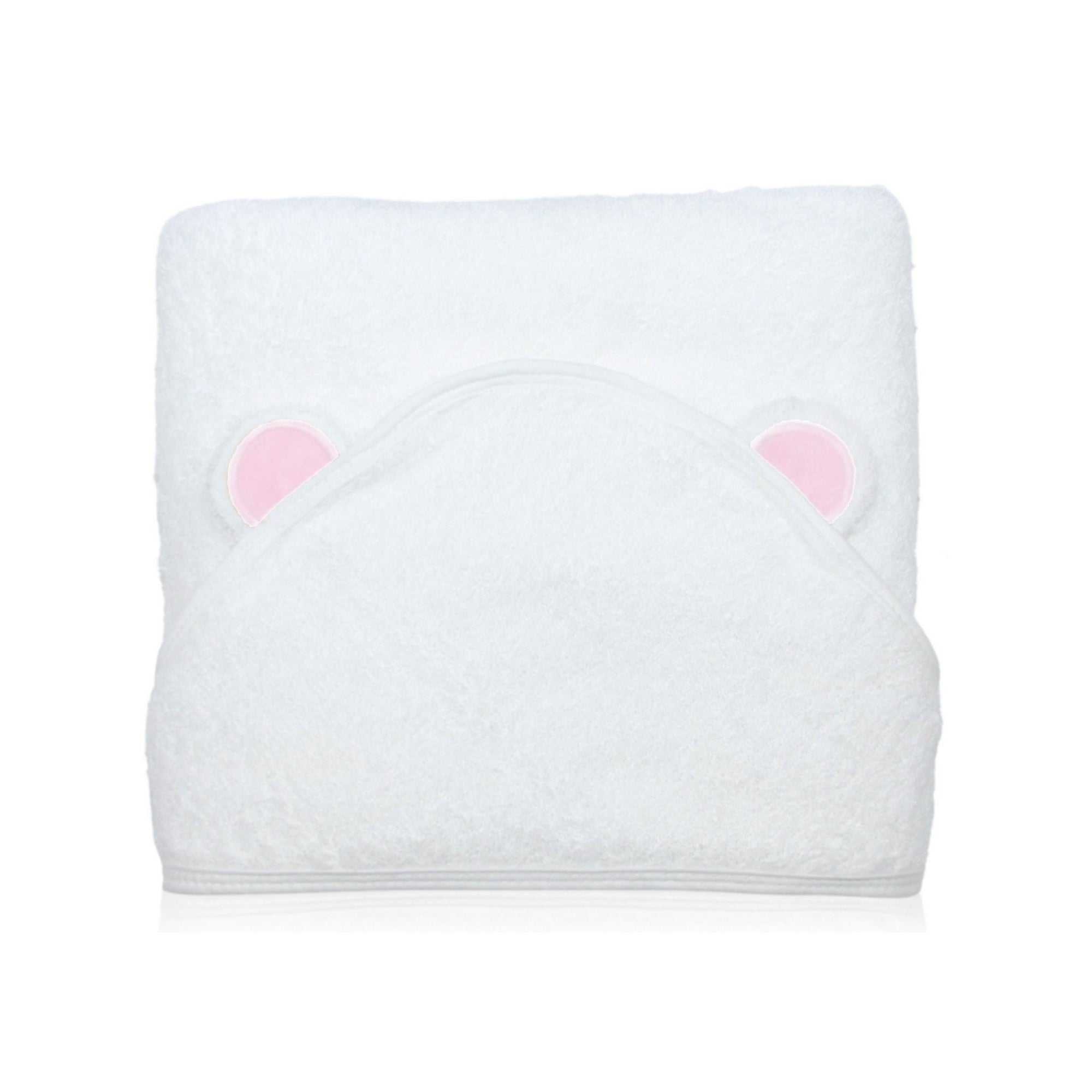 Super Soft Bamboo Hooded Towel - Pink Bear