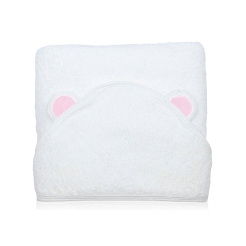 Silky Soft Bamboo Hooded Towel - Little Bear (Pink)