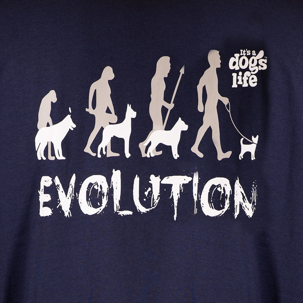 Evolution | Back Print - Its A Dogs Life | Clothing & Gifts