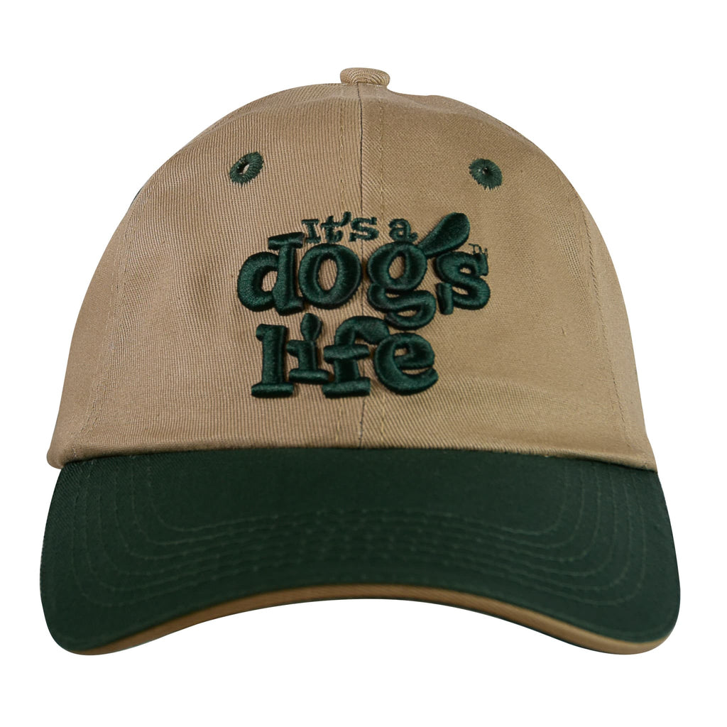 It's A Dog's Life Embroidered Baseball Cap - Kaki/Green - Its A Dogs Life | Clothing & Gifts