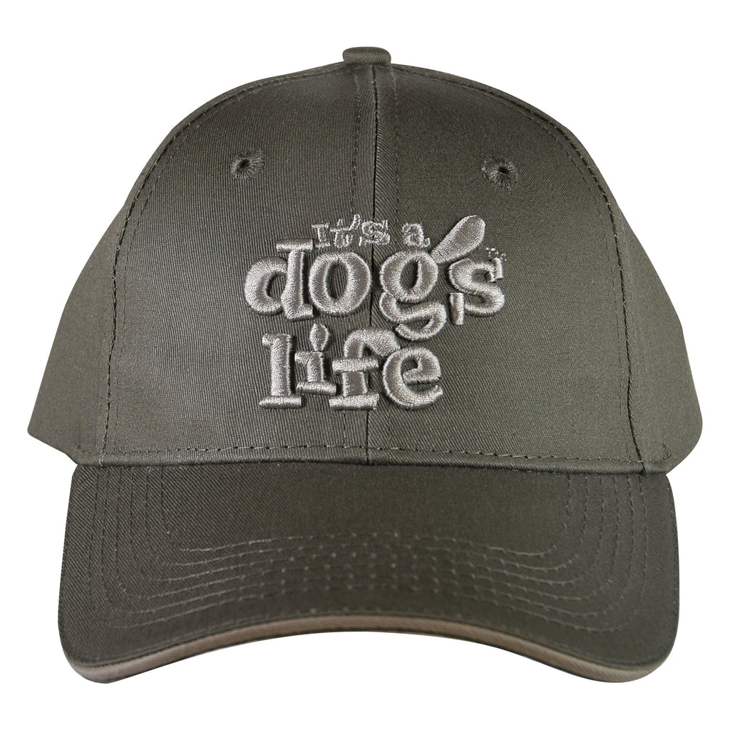 It's A Dog's Life Embroidered Baseball Cap - Dark Grey - Its A Dogs Life | Clothing & Gifts
