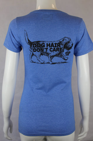Dog Hair Don't Care Ladies T'shirt