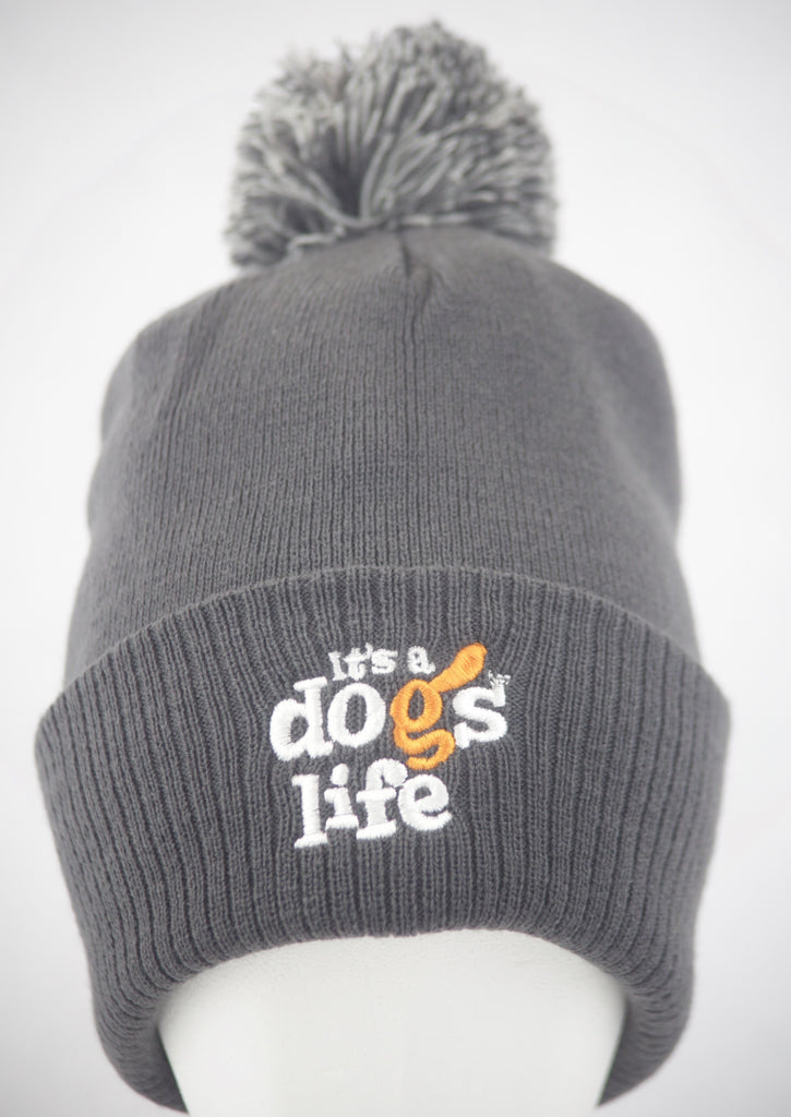 It's A Dog's Life | Beanie With Pom