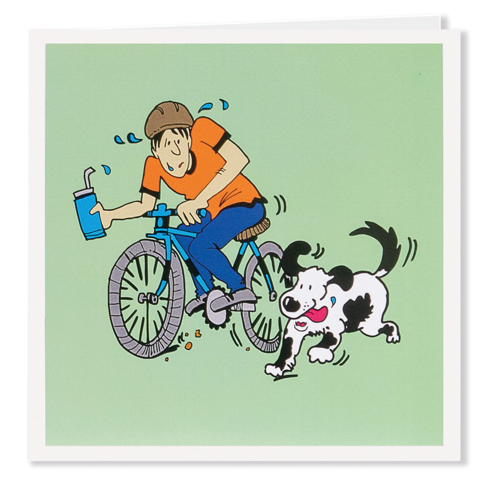 Bike - Greeting Card - Its A Dogs Life | Clothing & Gifts